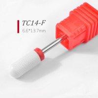 Керамическая фреза ТС14-F цилиндр закругленный,красный 038876