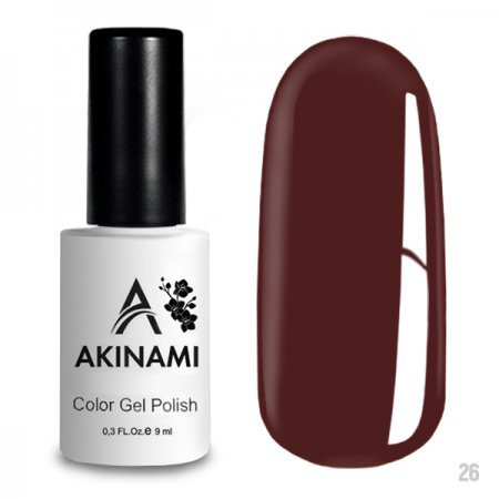 Akinami Color Gel Polish 026 Red Brown 219712