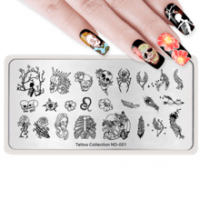 Пластина для стемпинга Nicole Diary Tatto Collection ND-001 - 621252