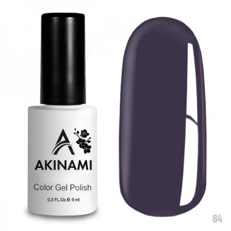 Akinami Color Gel Polish 084 Gray Violet 220305