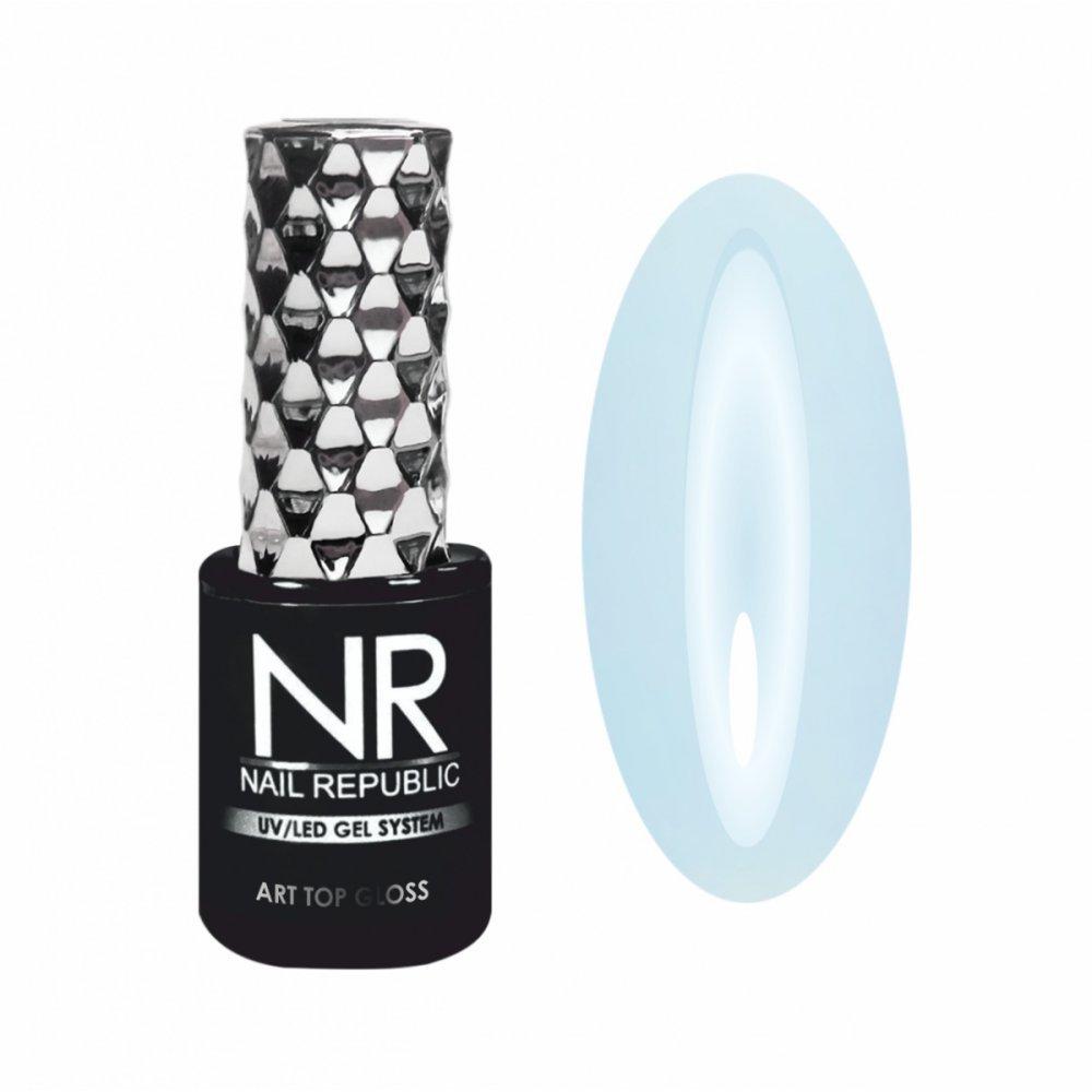 Nail Republic, ART TOP GLOSS №23 PROVENCE - топ глянец, Незабудковое поле, (10мл) - 448556