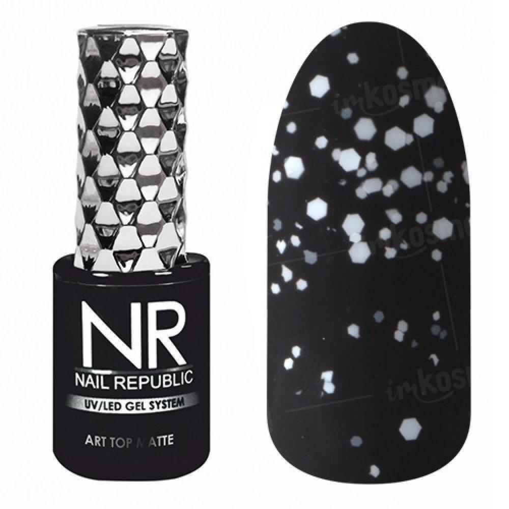 Nail Republic, ART TOP MATTE №11, (10мл) - топ матовый - 447801