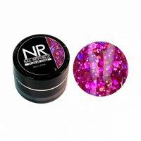 Nail Republic, Гелевая краска DISCO SHINE 8 с крупными шестигранниками (7 мл) - 442455