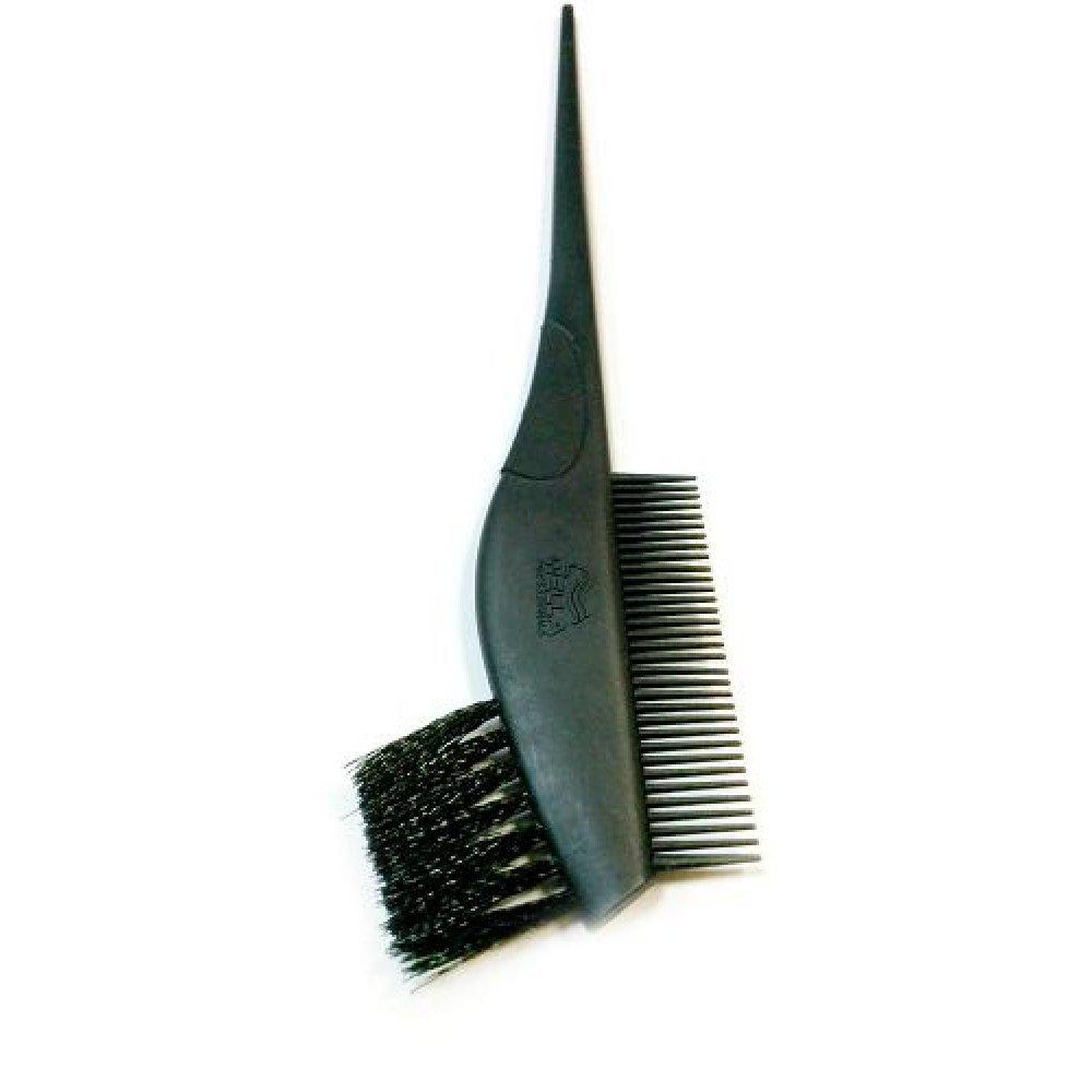 Кисть для окрашивания волос двойная черная 045290