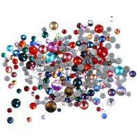 Стразы стекло Mix Цветной 250шт Размер SS3, 4,6,8 013828