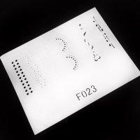 Трафарет для аэрографии F023 113579