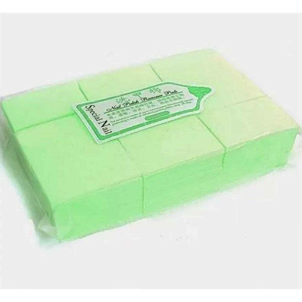 Салфетки без ворсовые 4х5см, Зеленые, 900шт - 600776