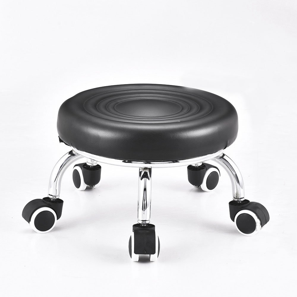 Педикюрный стул, черный на колесиках,(высота 23см) - 616685