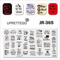 Пластина для стемпинга, серии JR Calligraphy 365  - 628664