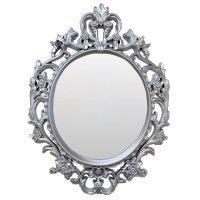 Зеркало, винтажное, овальное, серебро 53*73см - 615879