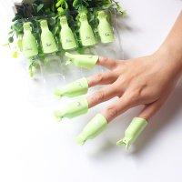 Клипер для снятия иск. ногтей Салатовые (набор 5 шт) 105871