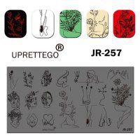 Пластина для стемпинга, серии JR Calligraphy 257  - 628626
