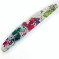 """NailSunShine, Пилка для ногтей """"лодочка"""" 180/180 flowers в инд.упак - 604545"""