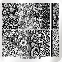 Пластина для стемпинга Nicole Diary-140M - 613325