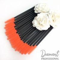 Щетки силиконовые для ресниц Оранжевые 20шт 047380