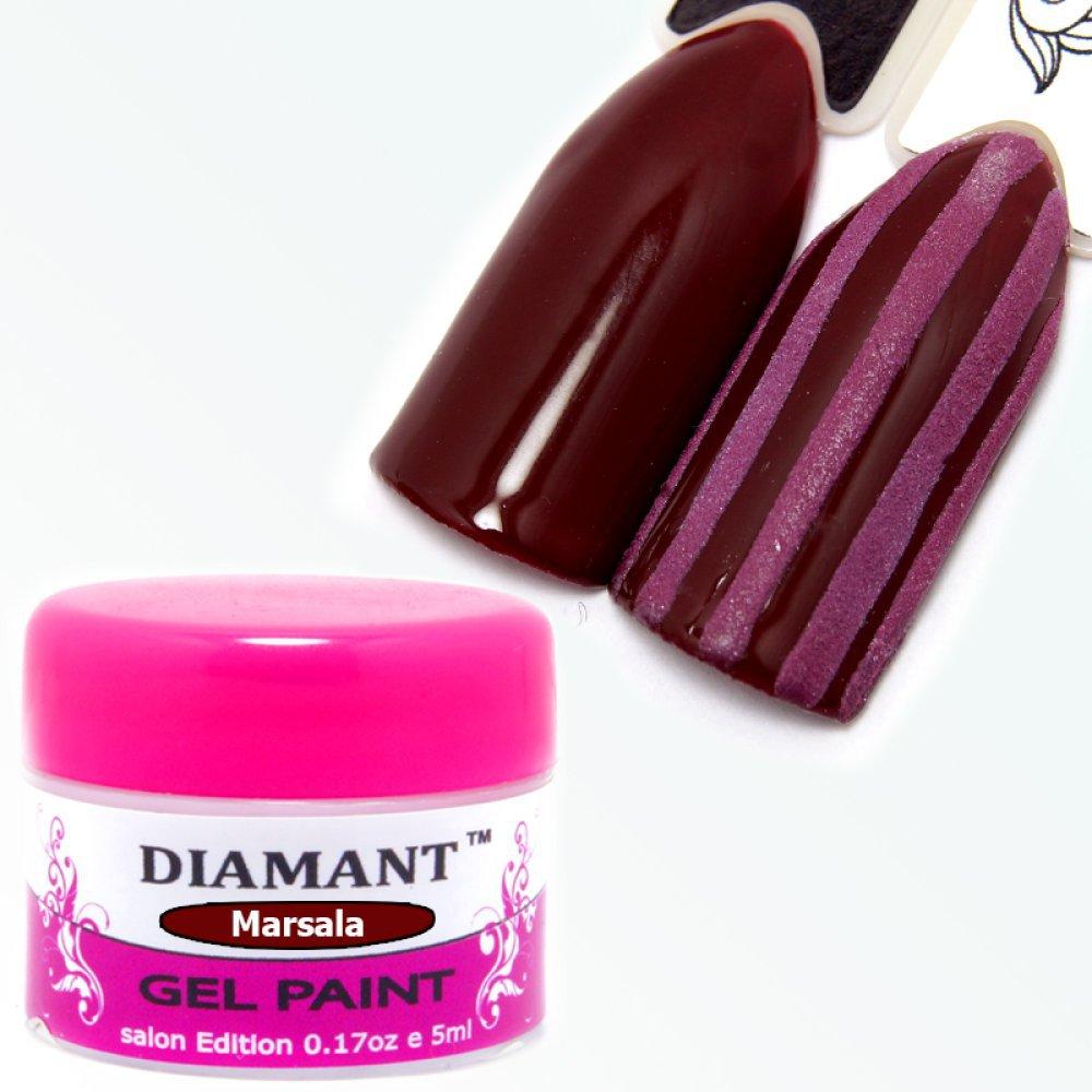 DIAMANT, Гель краска для дизайна Marsala/Марсала 3,5гр - 124605