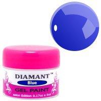 Гель краска DIAMANT для дизайна, 5ml - Blue/Синяя -  057934