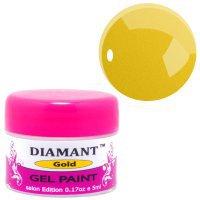 Гель краска DIAMANT для дизайна, 5ml - Gold/Золотая -  098487