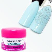 Гель краска DIAMANT для дизайна,Пастельно голубая 3,5гр- 099637