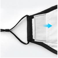 Фильтр PM 2.5 для маски с фильтром тканевой, белый 1шт - 611987